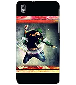PrintDhaba DANCE GIRL D-6672 Back Case Cover for HTC DESIRE 816 (Multi-Coloured)