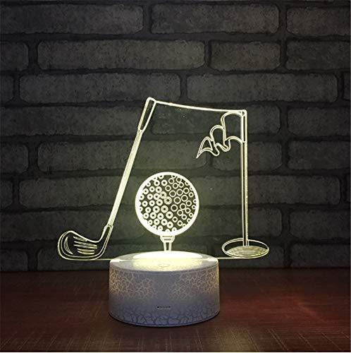 Weiße basis 7 Farben 3d Nacht Lichter Kreative Geschenke Led 3d lampe Musik Klassenzimmer Dekoration Atmosphäre Lichter