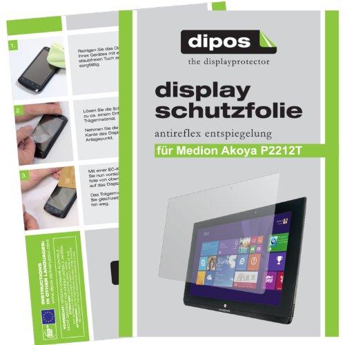 dipos I 2X Schutzfolie matt passend für Medion Akoya P2212T / P2211T Folie Displayschutzfolie