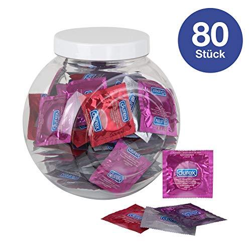 Durex Fun Explosion Kondome - Verschiedene Sorten für aufregende Vielfalt - Verhütung, die Spaß macht - In praktischer Dose zur Aufbewahrung (1 x 80 Stück)