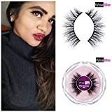WISESHE Mili 3D Mink Light Weight Natural Looking Soft Reusable Eyelashes Hand Made