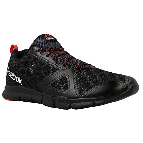 Reebok Hexalite Tr, Chaussures de Gymnastique Homme Noir  (Black / Smokey Black / Riot Red)