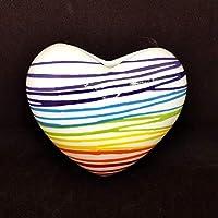 Umidificatore per termosifone/calorifero in ceramica a forma di cuore motivo righe arcobaleno dimensione prodotto: altezza 13 cm circa larghezza massima 14 cm circa Puoi usare il cuore anche come decorazione da appendere alla parete!! NOTA: s...