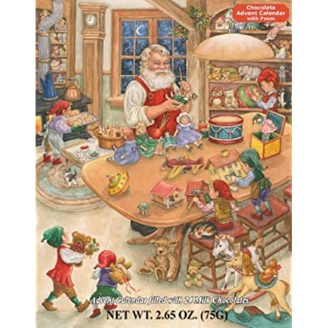 Santa's Toy Shop Chocolate Advent Calendar (2.65 oz/75G) by Vermont Christmas Company