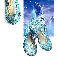 Disfraz Elsa Frozens zapatos - (32 pies = 19Cm Long)