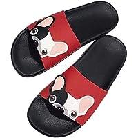 Cartoon Bulldog Francese Pantofole Diapositive Stampa estive per Gli Uomini delle Donne Sandalo Indoor Open-Toe