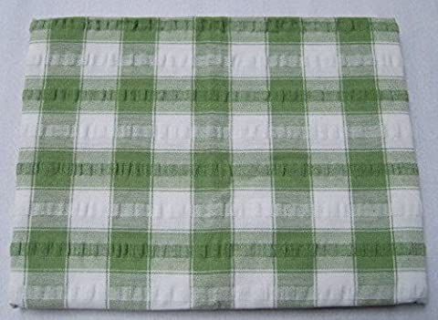 Seersucker Table Cloth Checked Square 50 x 50 Sage Green * Hallways ® by Hallways