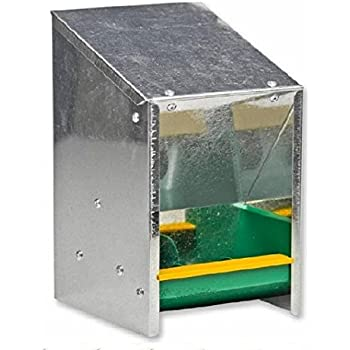 Eton Poultry Galvanised Wall Mounted Feed/ Grit Hopper, 2.5 Kg