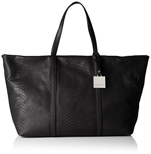 Tosca BluORANGE TEA - Borsa shopper Donna , Nero (Schwarz (BLACK C99)), 50x28x18 cm (B x H x T)
