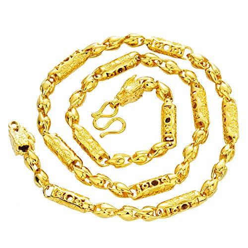 24k Thai Gelbgold GP gefüllt Halskette Schlüsselbein Kette Das Look & Feel von Solid Gold Rope Chain für Männer