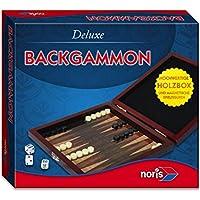 Noris Spiele 606108004 - Juego Deluxe Viajes Backgammon