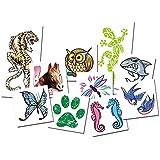 Juego de Tattoos Animales (x10 Tatuajes temporales para Niños) - Calcomanías Infantiles fabricadas en España
