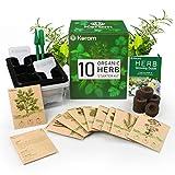 KORAM Herb Garden Kit Kit in crescita Set di inizio giardinaggio 10 erbe Kit per piante da interno di semi biologici Bisogni del giardiniere per coltivazione di erbe, cucina, Balcone, davanzale