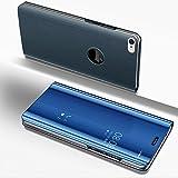 SainCat Coque iPhone 6 Plus Miroir Portefeuille, Ultra Slim Coque Cuir PU et Plastique Rigide Portefeuille Miroir Anti Choc Coque pour iPhone 6 Plus/6S Plus-Bleu