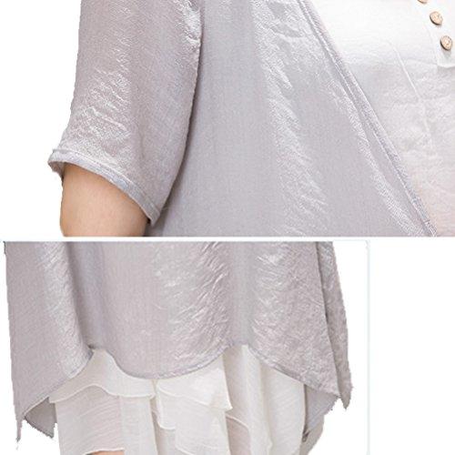 Laixing - Robe spécial grossesse - Femme Gris clair