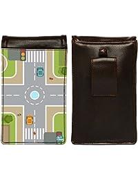 Nutcase Designer Travel Waist Mobile Pouch Bag For Men, Fanny Pack With Belt Loop & Neck Strap-High Quality PU... - B075N7WCFV