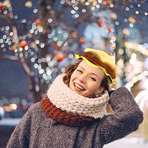 Cheeseburger Kostüm - Allowevt Halloween Kostüm Kopfbedeckungen Hüte Einstellbare Cheeseburger Hut Christmas Party Dress Up Requisiten Hut für Kinder Erwachsene