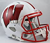 Riddell NCAA Wisconsin tejones tamaño Completo Velocidad réplica Casco, Rojo, Mediano