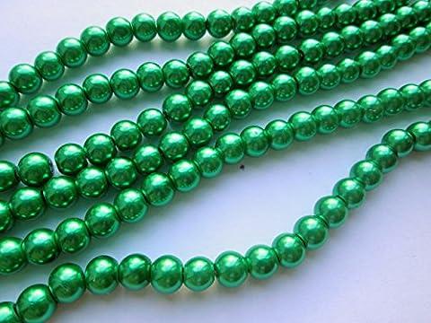 1st4beads TM–1406mm ronde perles en verre–Vert (4)