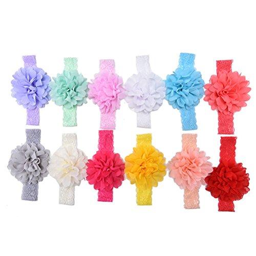 SevenMye 20 Pcs/lot Girl Hair Bow Headband Elastic Hair Bands Newborn Infant Toddler