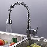 Modern Kitchen Tap Pull Out Spray Sink Mixer Faucet Swivel Spout Single Lever