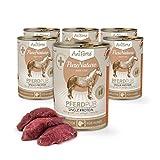 AniForte Hundefutter Pferd Pur 6 x 400g für Hunde, Nassfutter Ohne Künstliche Vitamine Oder Chemie, Barf Futter