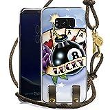 DeinDesign Samsung Galaxy S8 Plus Carry Case Hülle zum Umhängen Handyhülle mit Kette Cards Karten Happiness