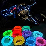 #4: One Touch-1m car-styling Interior Ambient Light Car Inside Cool Strip Refit Light {Ice Blue} for Ford Ecosport