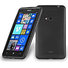 Coque Nokia Lumia 625 en NOIR DE JAIS de Cadorabo (Design METAL BROSSÉ BRUSHED) Housse en Gel TPU Silicone Souple Ultra Mince avec Anti Choc – Coque de Protection Etui Case Cover Ultra Slim Fine Bumper