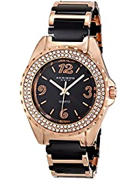 Akribos XXIV AK514RG -Reloj de cuarzo para mujeres, color negro y dorado