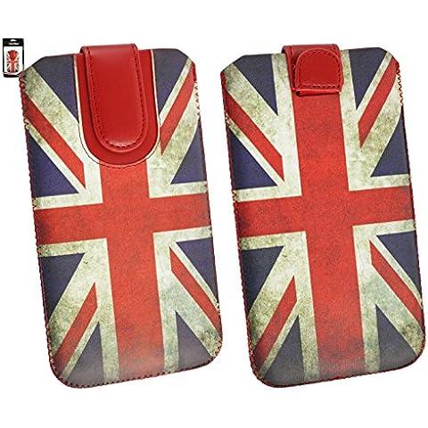 Emartbuy® Union Jack Stampa PU Pelle Custodia Case Cover Sleeve ( Misura 5XL ) con Linguetta Adatta Per Microsoft Lumia 640 XL LTE / 640 XL LTE Dual Sim