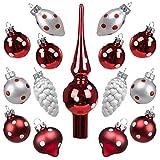 Art beauty mini palle di Natale albero ornamenti palla di vetro con puntale 15 pz centrotavola addobbi per festa di nozze banchetto, POLKA DOT