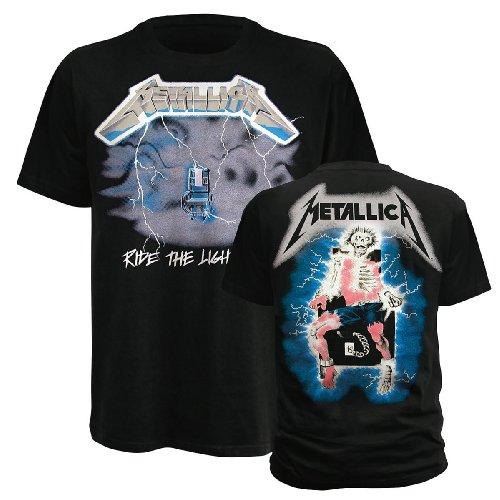 Ride the Lightning,T-Shirt,Größe l,Schwarz -
