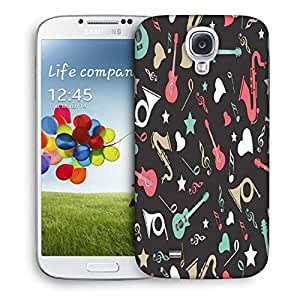 Snoogg Abstract Music Instruments Printed Protective Phone Back Case Cover For Samsung S4 / S IIII