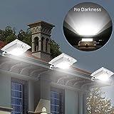 Solare luce con sensore di movimento esterno Cool White
