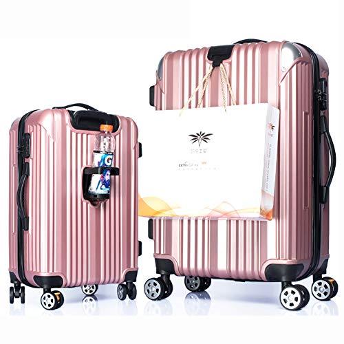 MZTYX It Graffio-Prova Telaio in Alluminio Valigia da Viaggio con portaTazze Trolley Valigia Universale Freno Ruota,A1,26inches