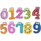 Sannysis® Cartas coloridas de la historieta de madera Iman, juguetes educativos del bebé(B)