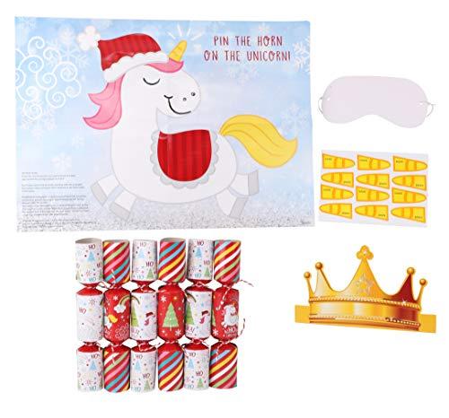 Toyland® 6er-Pack Das Horn auf den Einhorn-Weihnachtscrackern - Neuheitendekorationen
