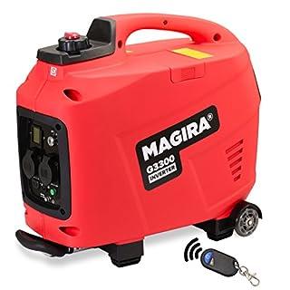 MAGIRA 3,3kW Stromerzeuger Inverter mit E-Start, 3300W Digital Benzin Aggregat leise in 11 Varianten: 0,8kW - 7,0kW