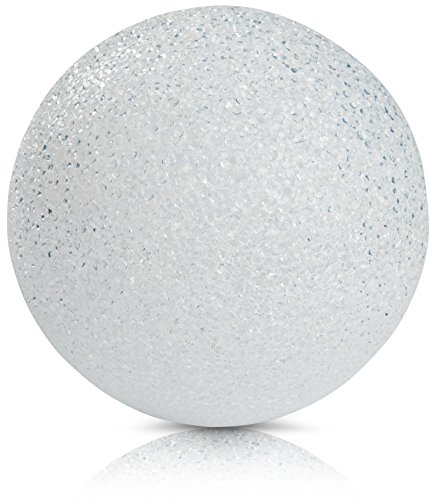 CHICCIE LED Kunststoff Kugelleuchte Weiß Mit Timer 18cm - Leuchtkugel Leuchtball Kugel Ball