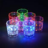 Copa LED luminosa para cocktail - Accesorio indispensable para eventos y fiestas - 12 pz