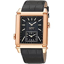 Esprit Collection Pallas B800 Men's Quartz Watch with Black Dial Analogue Display and Gold