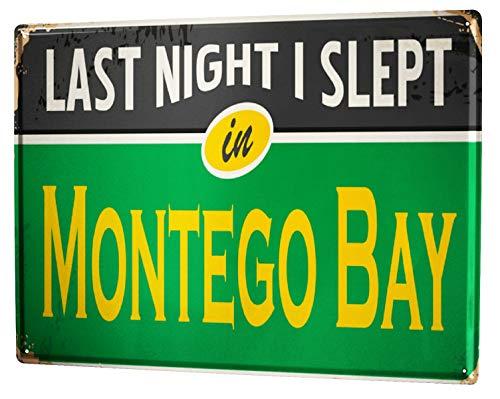 Jamaika Montego Bay (LEotiE SINCE 2004 Blechschild Wandschild 30x40 cm Vintage Retro Metallschild Retro Metropole Montego Bay Jamaika)