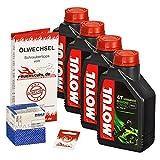 Ölwechselset Motul 5000 10W-40 Öl + Mahle Ölfilter für VN 1500 Mean Streak, Bj. 02-03 (Typ VNT50P); Motoröl + Filter + Dichtring