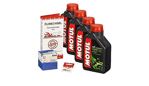 Motul 10w 40 Öl Mahle Ölfilter Für Honda Vfr 750 F R 88 97 Rc24 Rc36 Rc30 Ölwechselset Inkl Motoröl Filter Dichtring Auto