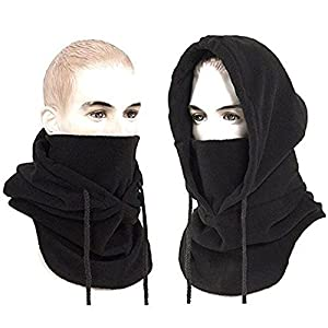 Joyoldelf Thermal Balaclava Face Mask Outdoor Sports Mask Hood Hat (Black)