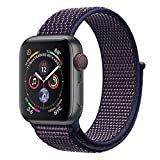 ANBEY Compatible para Correa Apple Watch 38mm 40mm 42mm 44mm, Adecuado para iWatch Apple Watch Serie 4, Serie 3, Serie 2, Serie 1, Reemplazo de Banda de Nylon Sport Loop Dark Blue 42/44mm