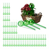 Relaxdays Set 80x Sfere per irrigazione, dosatori d'Acqua per Piante da Vaso, Ornamentali, Durata 2 Settimane, in plastica, Verde