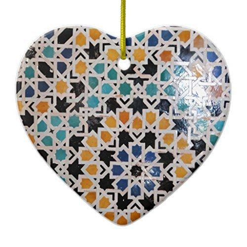 Neuheit Weihnachten Baum Decor Alhambra Wand Fliesen # 9Keramik Ornament Herz Weihnachtsschmuck Ornament Crafts Hof-fliesen