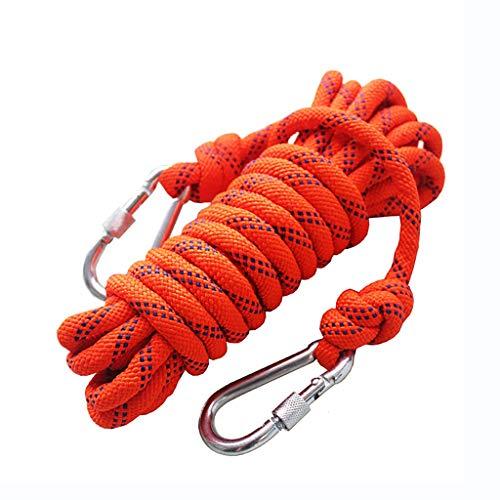 Seil Outdoor Kletterseil, 10,5 / 8mm Sicherheit Seil Klettern Abseilen Seil Kletterseil Nylon Seil Flucht Ausrüstung, 40m / 30m / 25m / 20m / 15m / 10m (größe : 10.5mm-10m)